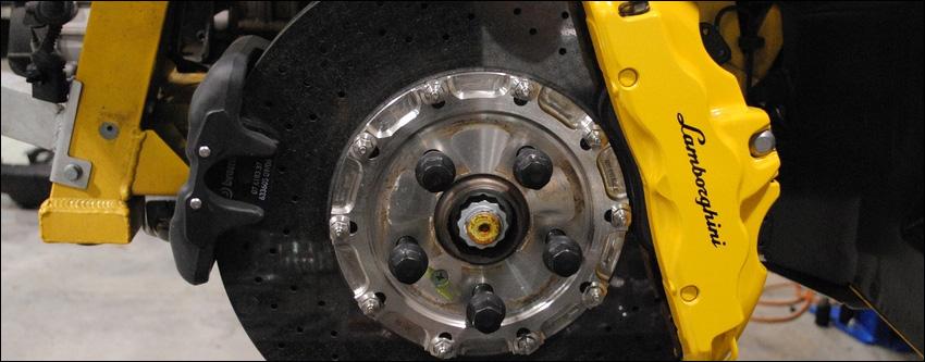 Lamborghini Brake Job Brake Pad Replacement EuroHaus